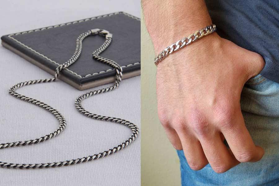 Silver Necklaces and Bracelets for men