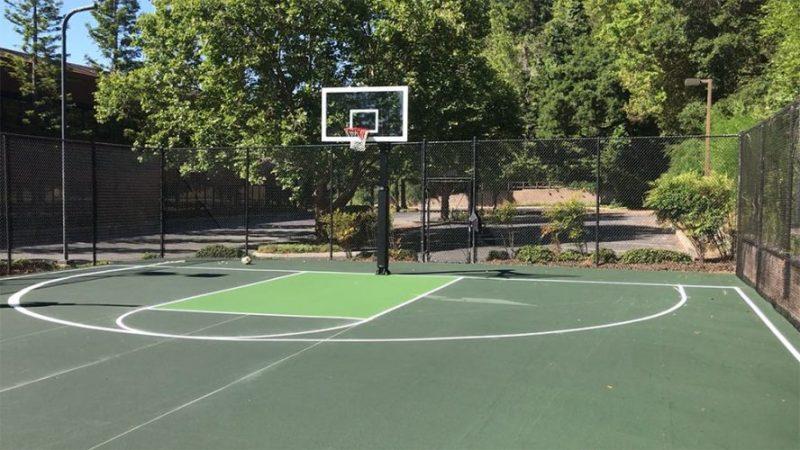 Asphalt Basketball Court
