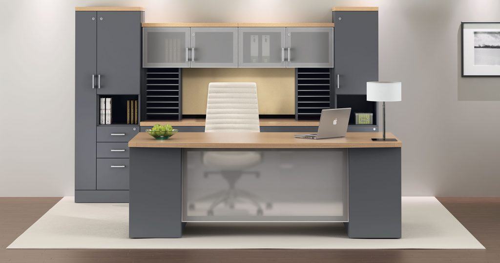 Use tables and a desk with the cavity