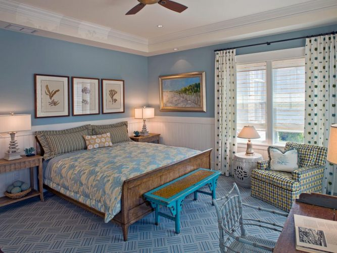 The coastal style for your bedroom walls