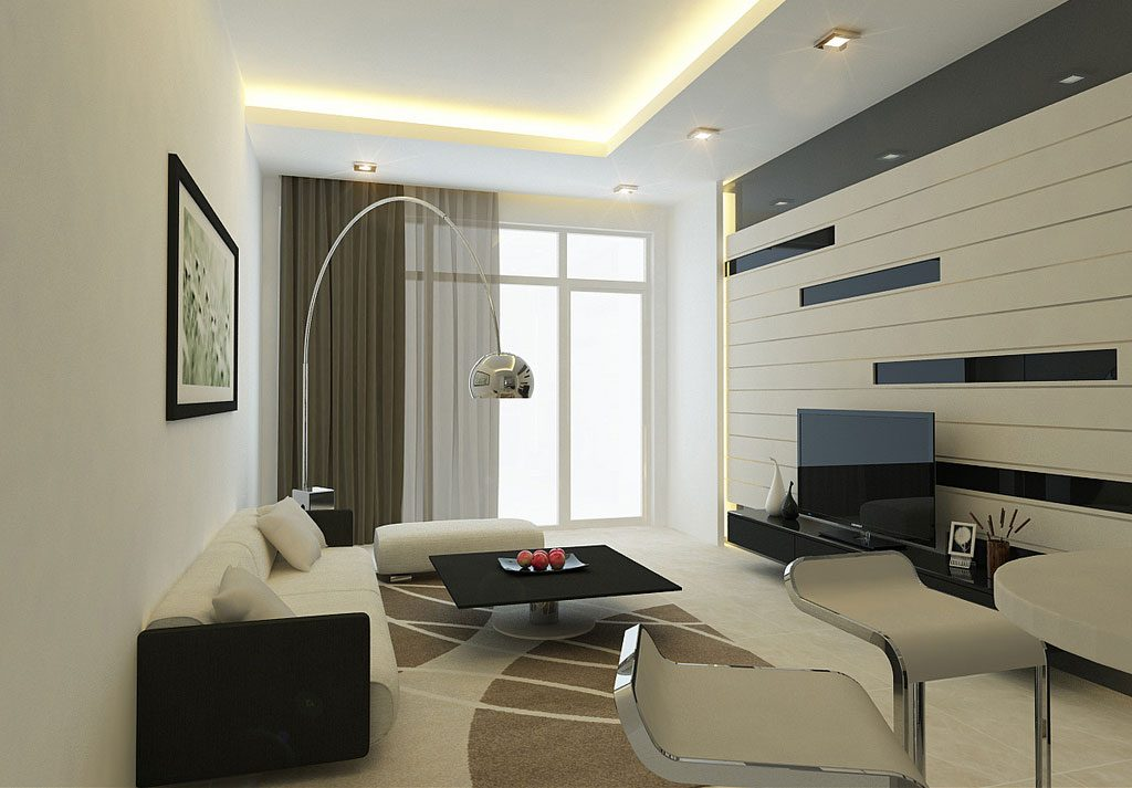 Modern style for the living and drawing room walls