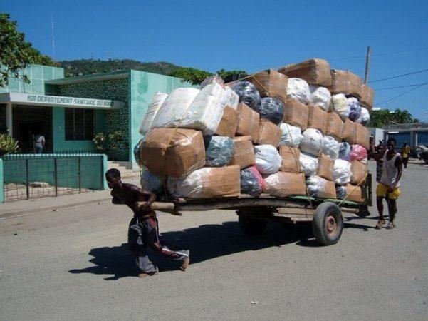 Menial work in Haiti