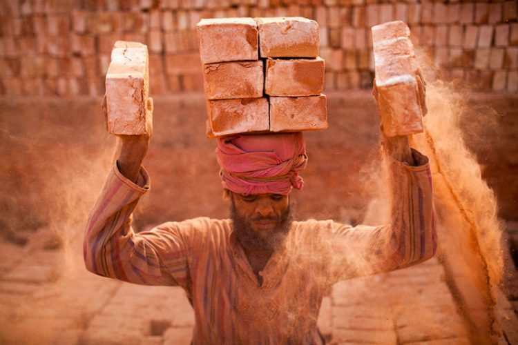 Brickmakers or workers of furnaces