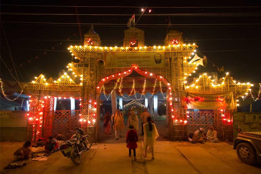 Thematic gates in Kumbh mela Prayagraj