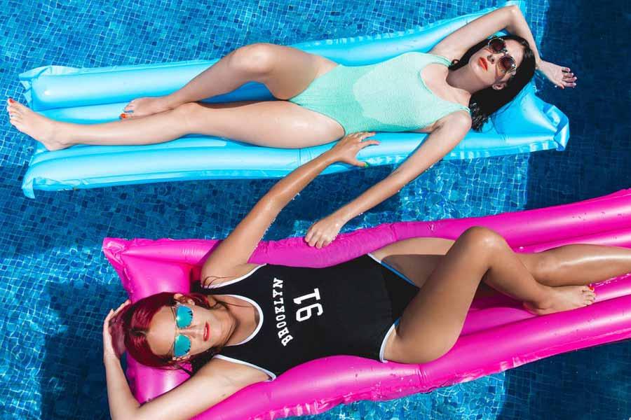Wet bathing suit