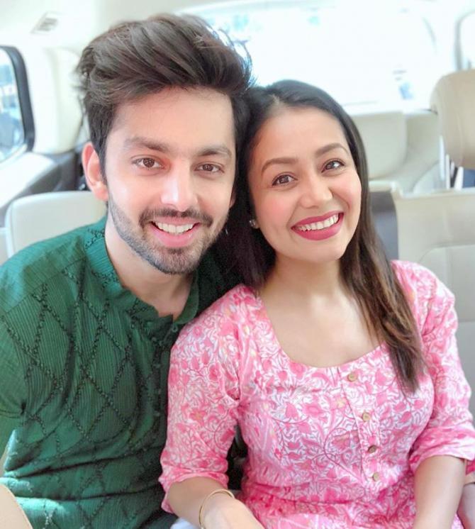 Neha Kakkar and Himanshu Kohli