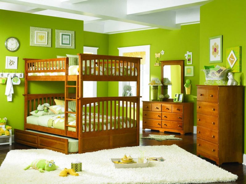 Green paint for kids room
