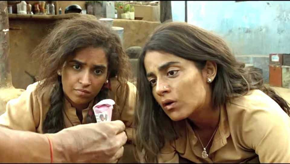 Radhika Madan and Sanya Malhotra in Papakha