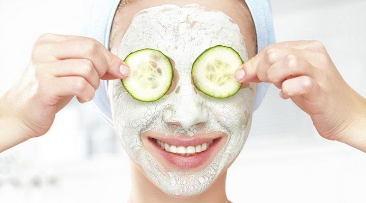 Cucumber face pack