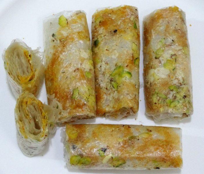 Putharekulu or Paper sweet