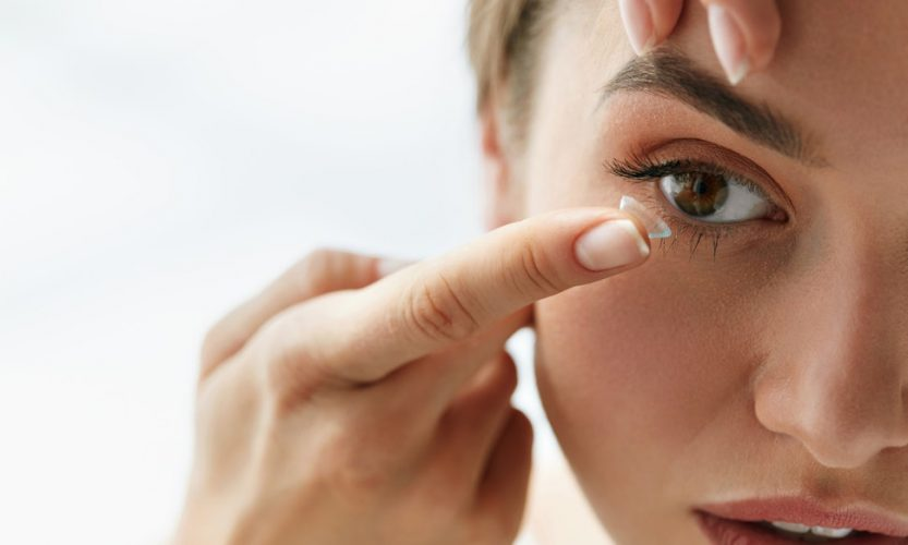 Wearing your contact lenses for too long is also one of the reasons