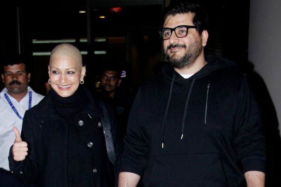 Sonali Bendre is Back with Husband Goldie Behl
