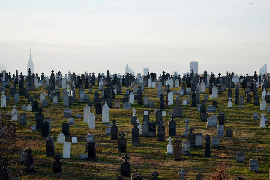 A city which has more of dead people than the alive