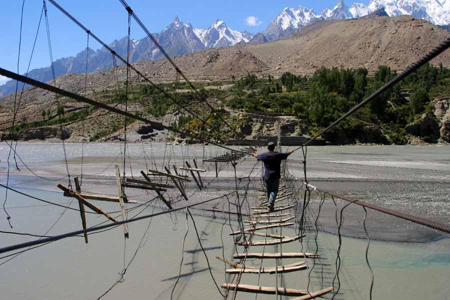 Suspension Bridge in Northern Pakistan