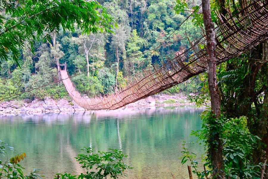 Bamboo Bridge, Arunachal Pradesh, Northeast India