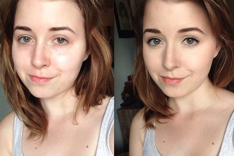 Before & After Makeup Images