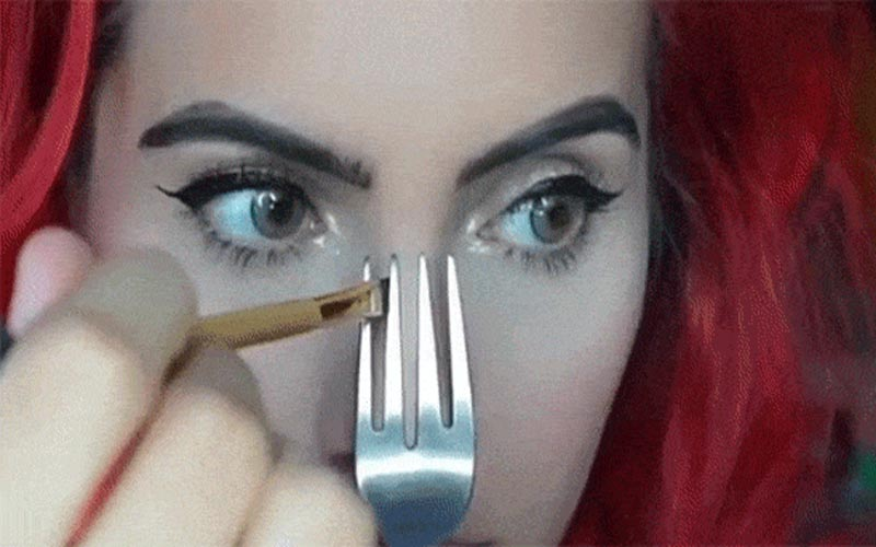 The fork can contour your nose