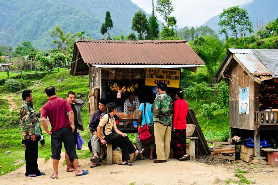 The people in Sikkim