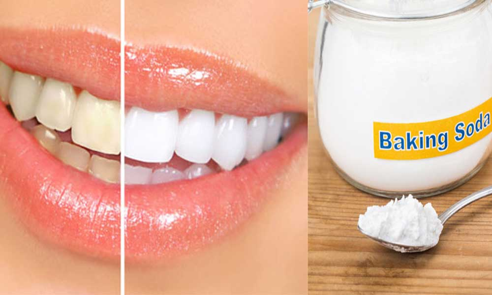 Brushing with baking soda