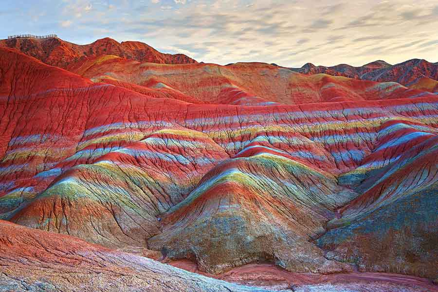 The Rainbow Mountains, China