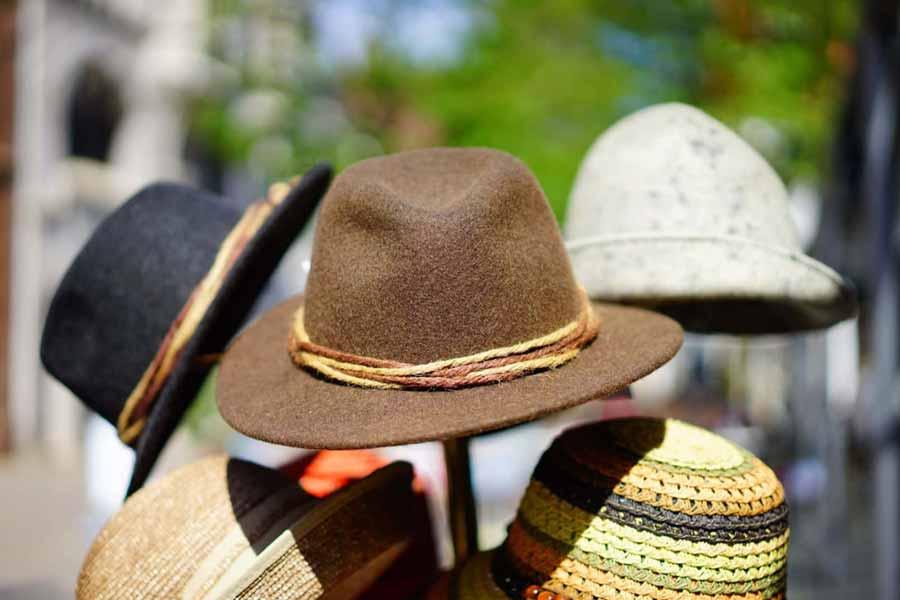 Sideways hat