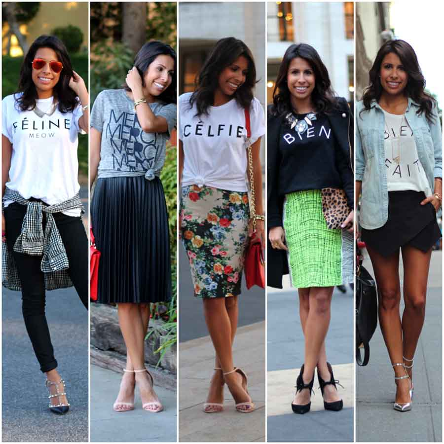 Graphic T-shirts or skirts
