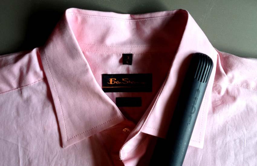 Hair straightener for ironing hem and collars