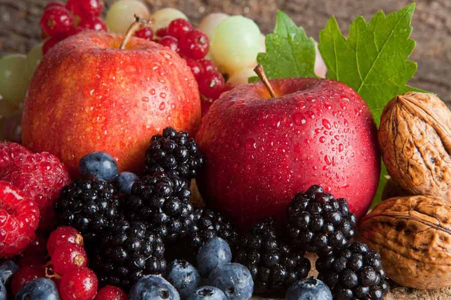 Eat lots of Berries and apples