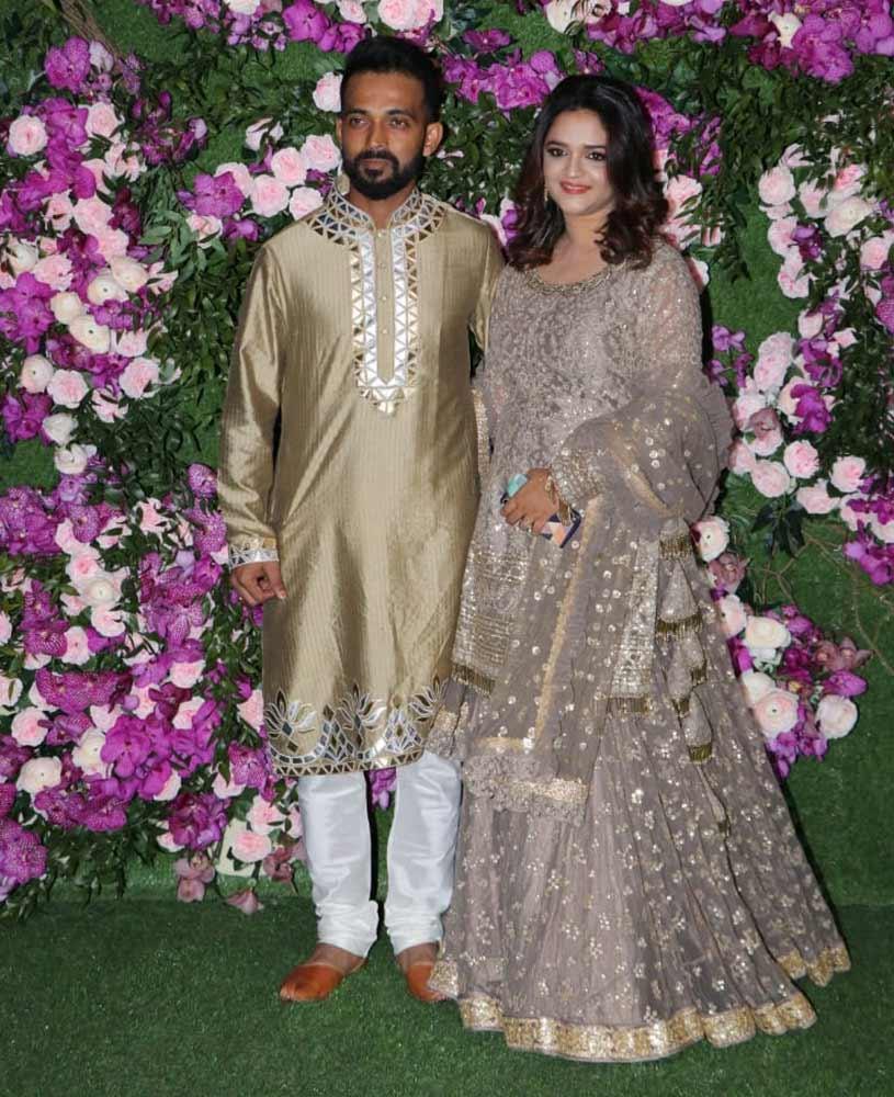 Ajinkya Rahane and his wife Radhika