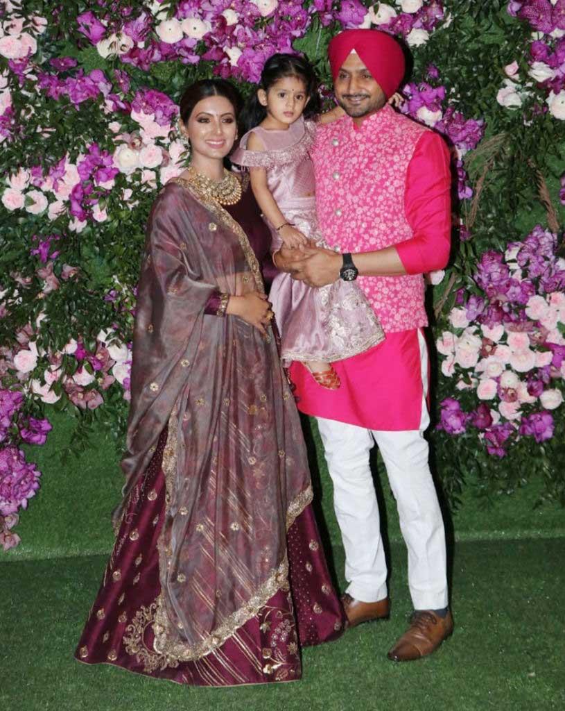 Harbhajan-with-family-at-Ambani wedding