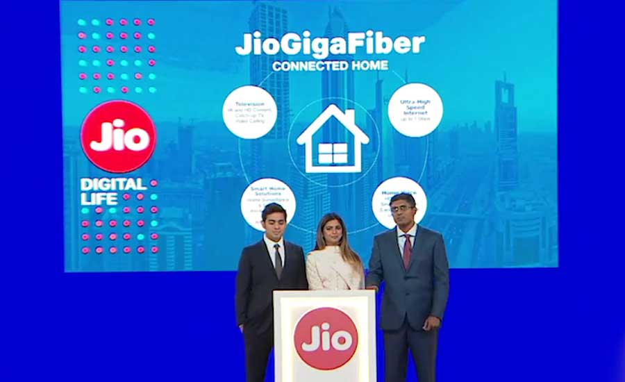 Reliance Jio GigaFiber Commercial Launch