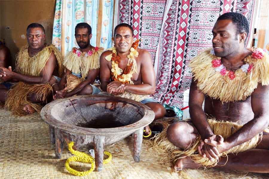 Welcome drinks in Fiji