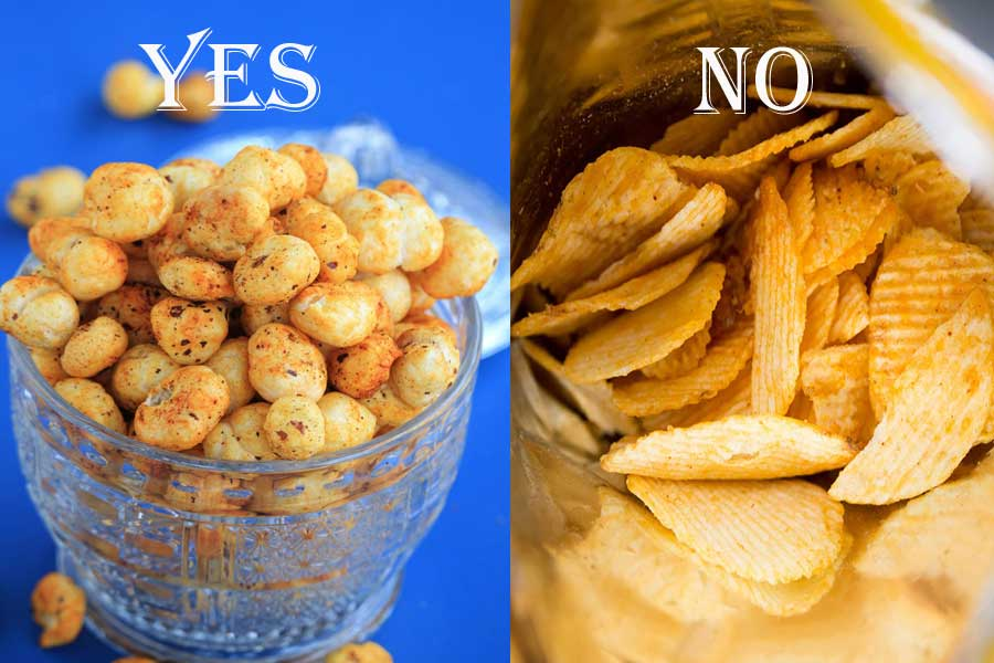 Roasted Makhanas instead of oily and fried Potato Chips