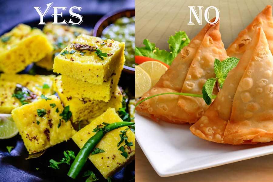 Eat Dhoklas instead of Heavy and Oily Samosas