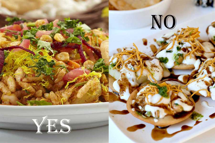 Eat Bhelpuri instead of Chaat Papri