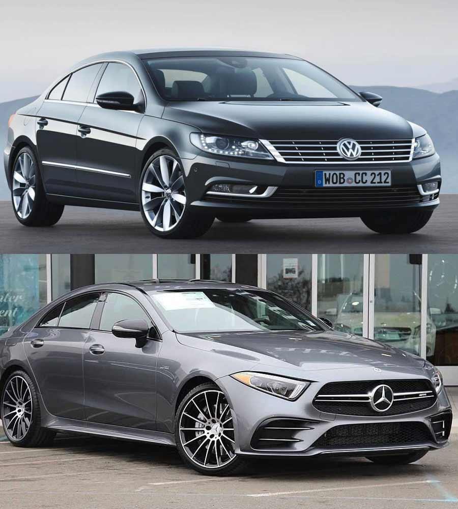 Volkswagen CC and Mercedes Benz CLS