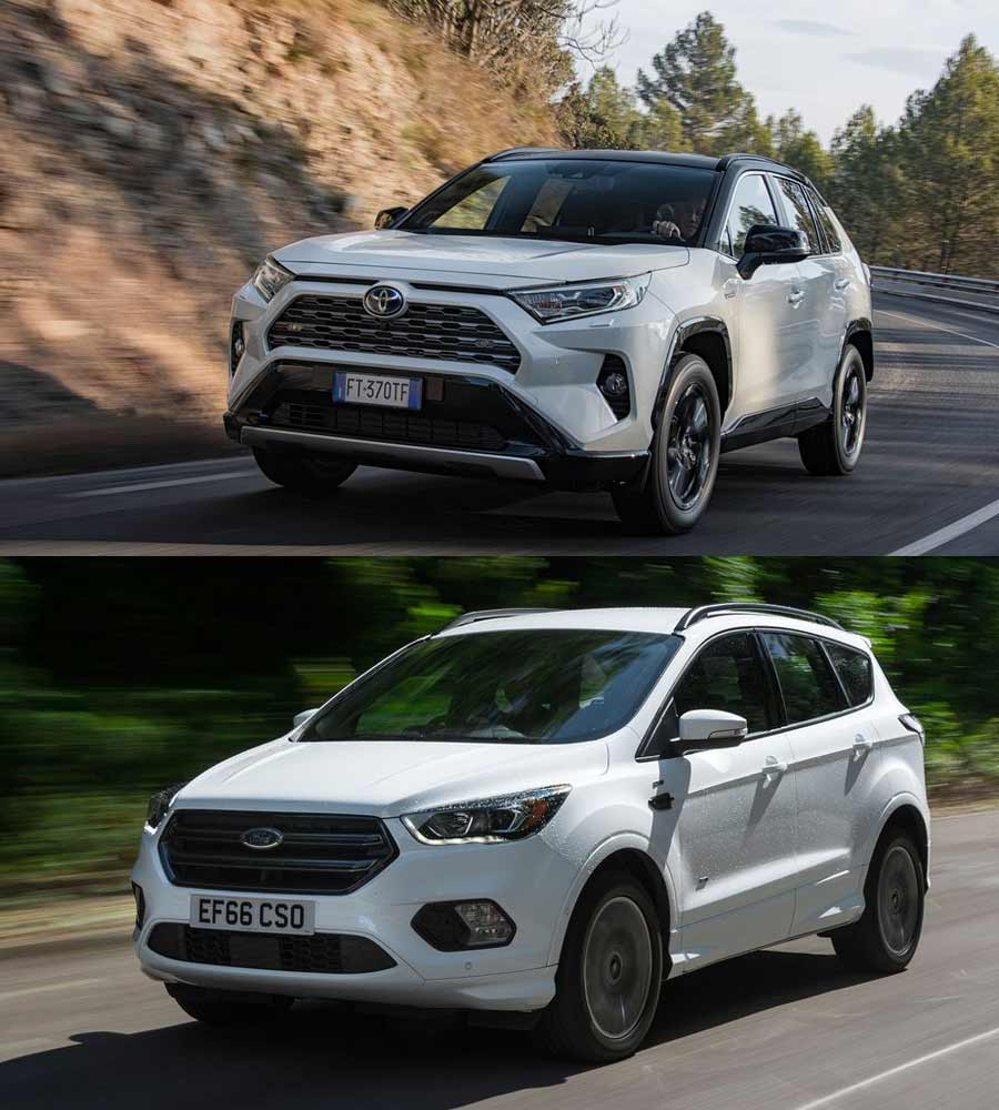 Toyota RAV and Ford Kuga