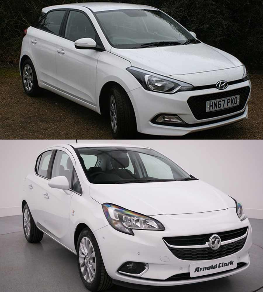 Hyundai I20 and Vauxhall Corsa