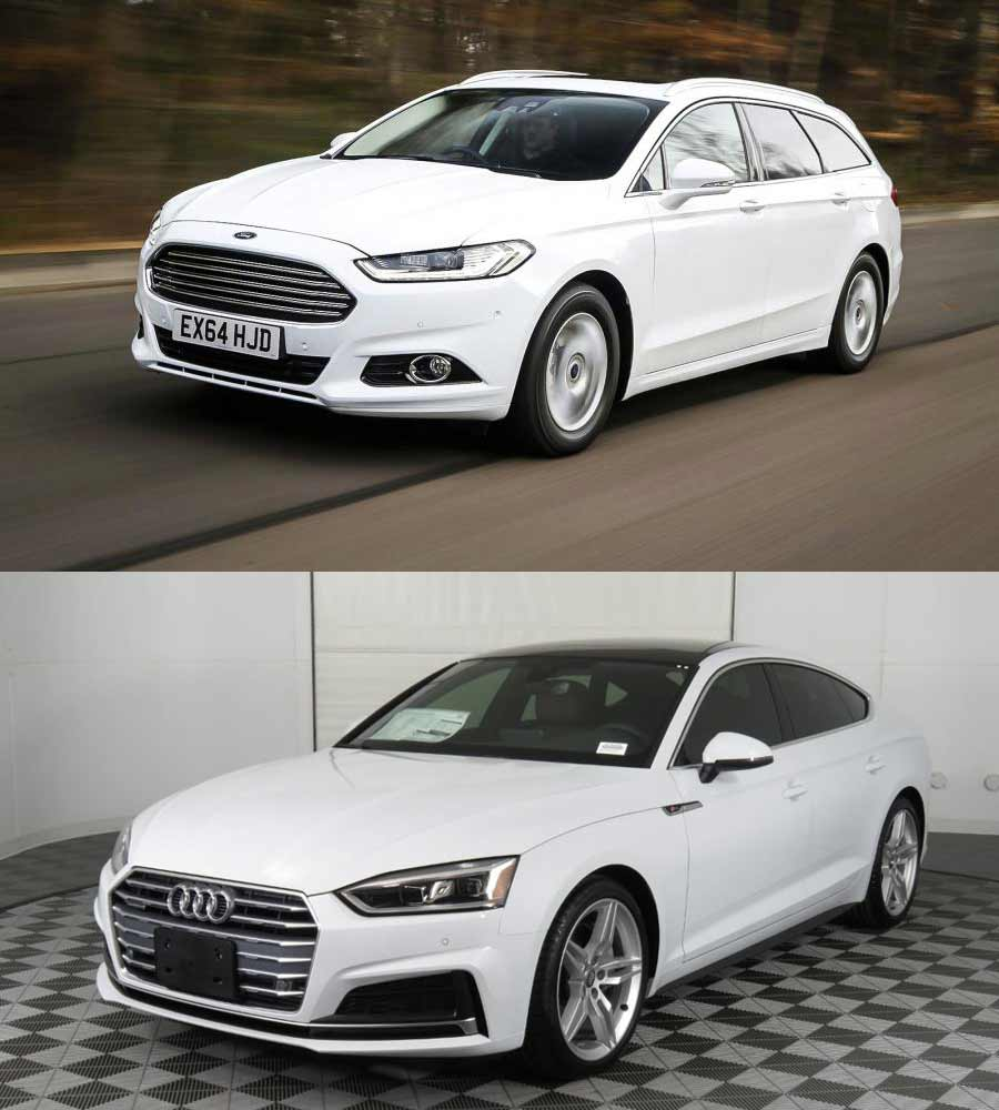 Ford Mondeo and Audi A5 Sportback
