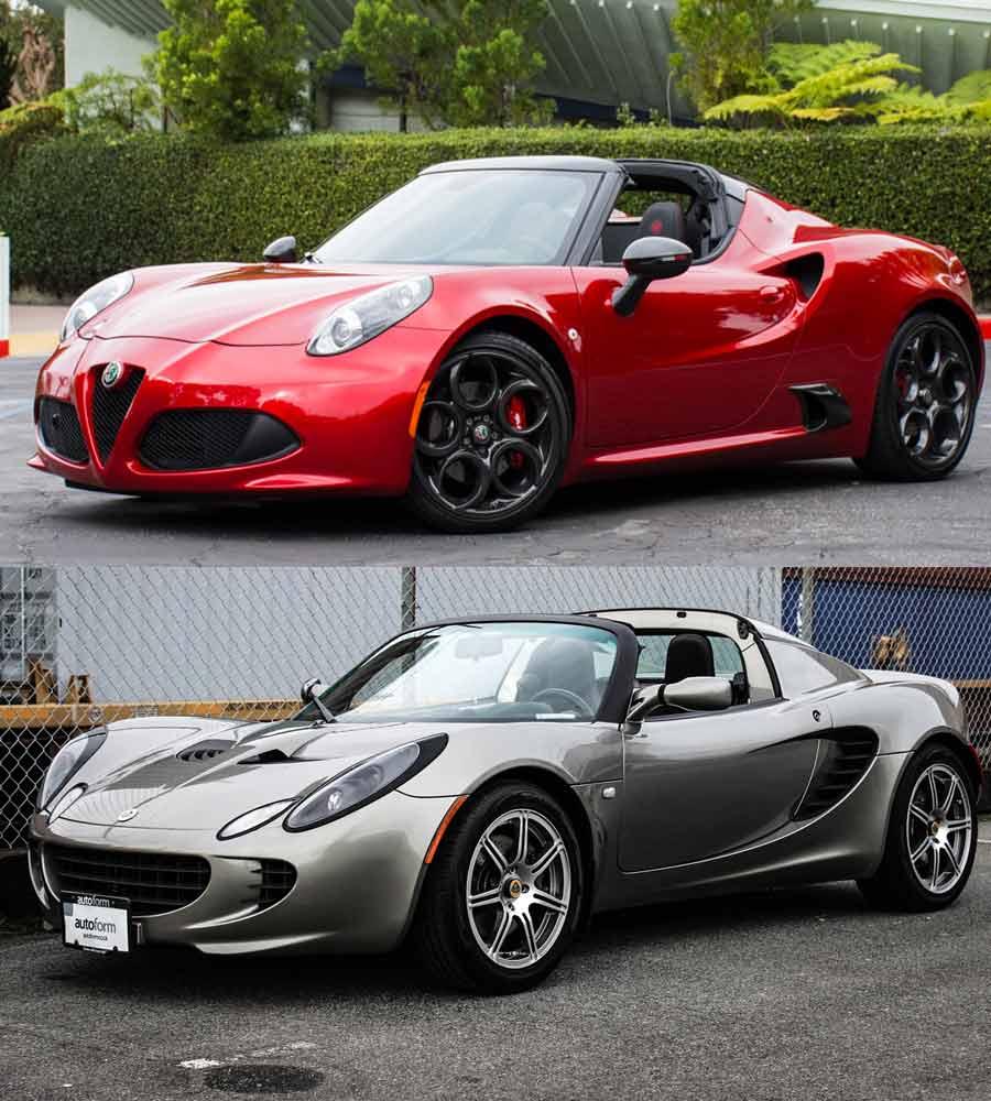 Alfa Romeo 4C and Lotus Elise