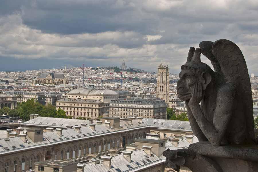 Pagan city lies below Notre-Dame