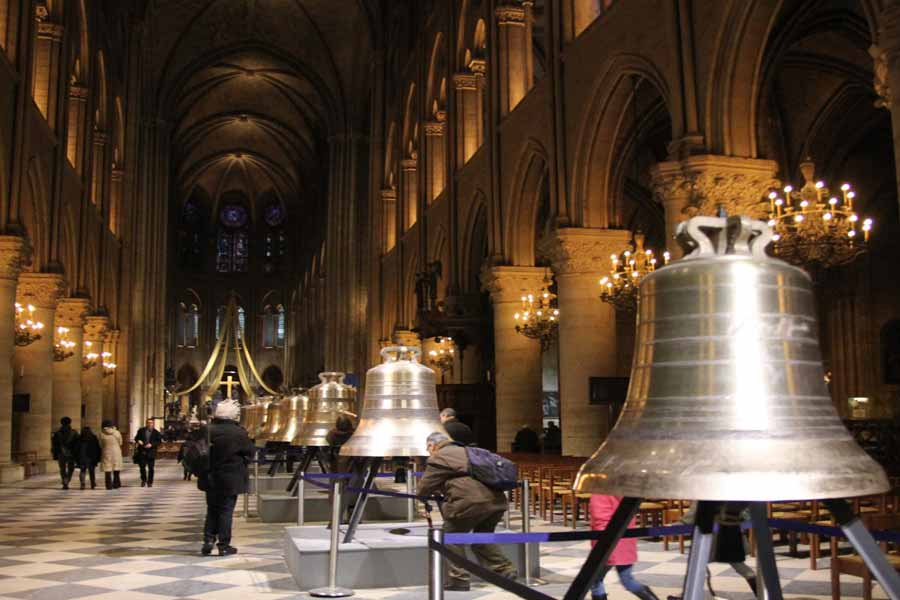 The cathedral is home to 10 bronze bells bell that weighs nearly 4 tons