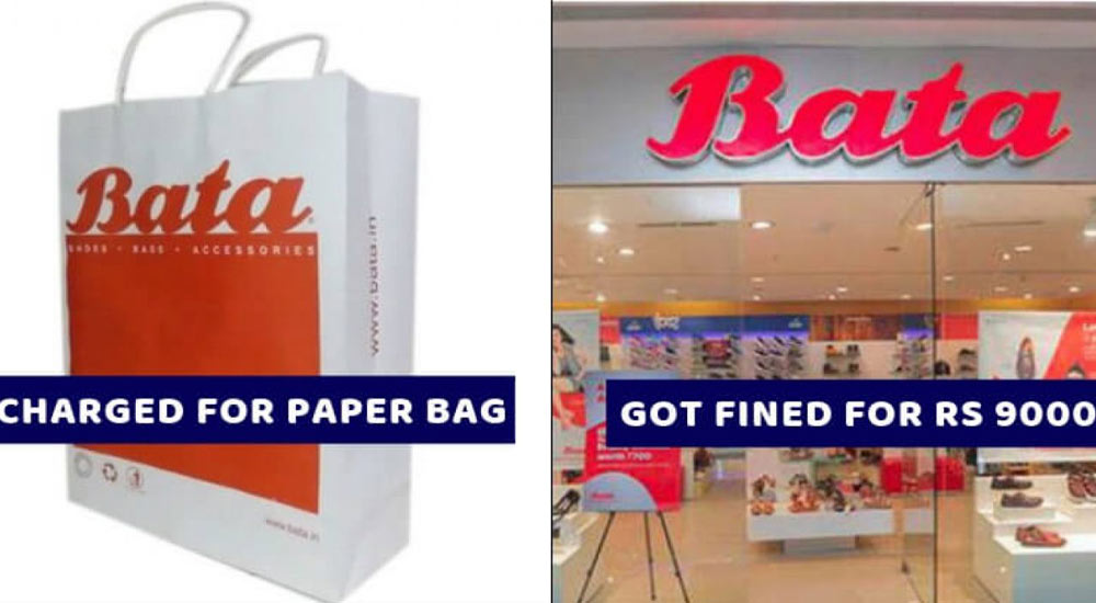 Bata Has Been Fined Rs. 9,000 on Forcing The Customer To Pay Rs. 3 for a Paper Bag