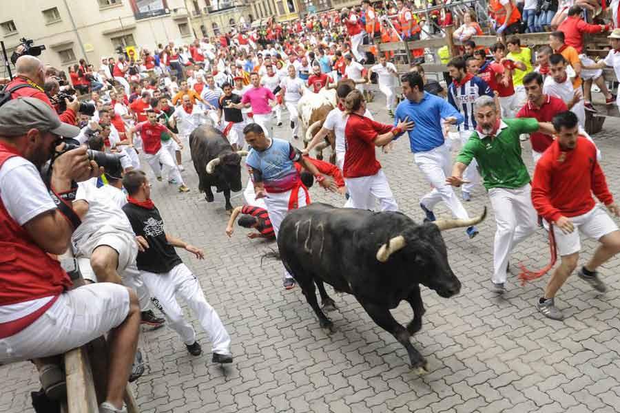 Pamplona Bull Run, Spain