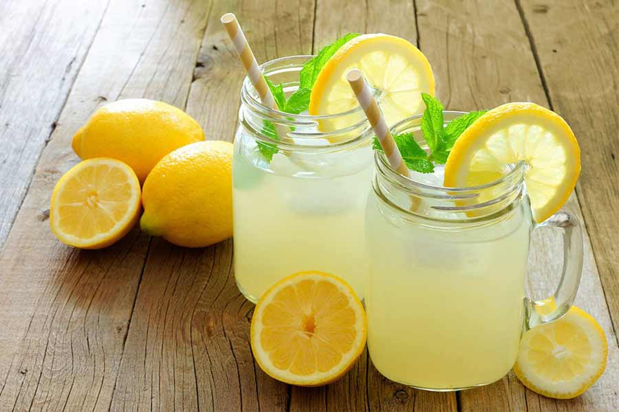 Drink a glass of lemon water daily