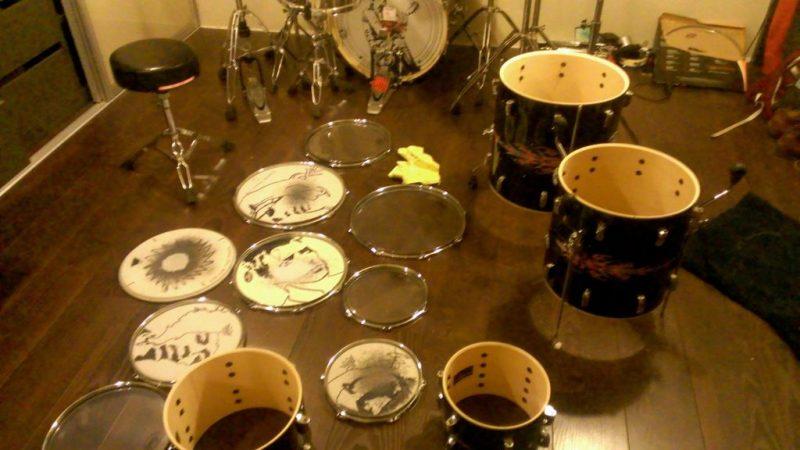 Disassemble the Drum set