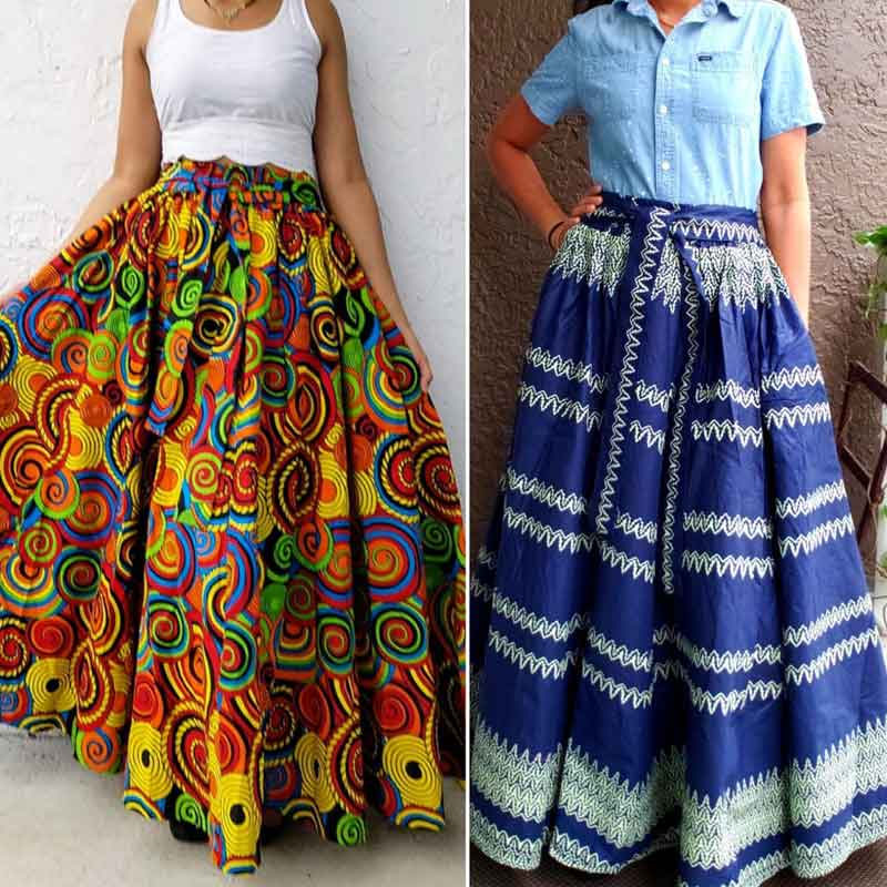 Flared skirts