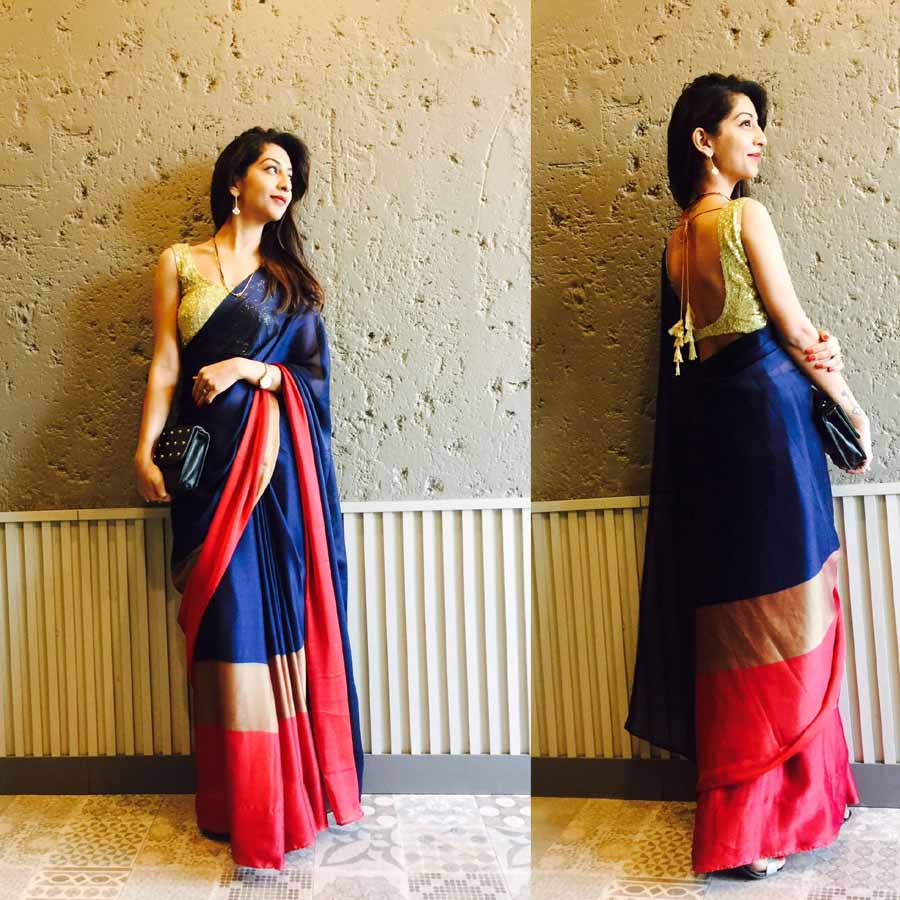 Doing experiments with mother's saree