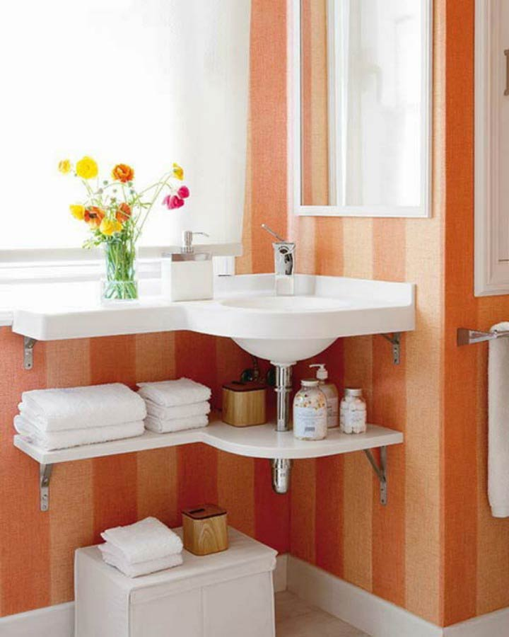 Add Low Shelving to Your Bathroom Especially below the Sink