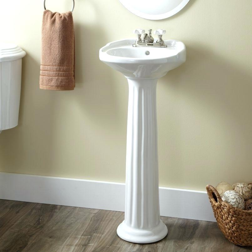 Install a Pedestal Sink in a Small Bathroom
